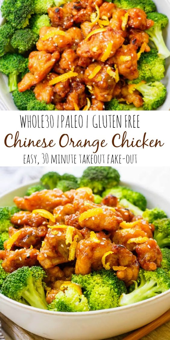 This easy Whole30 Chinese orange chicken