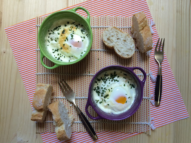 huevos con jamón en cocotte receta