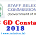 SSC GD Constable 2018 Application to begin from 17 August 2018