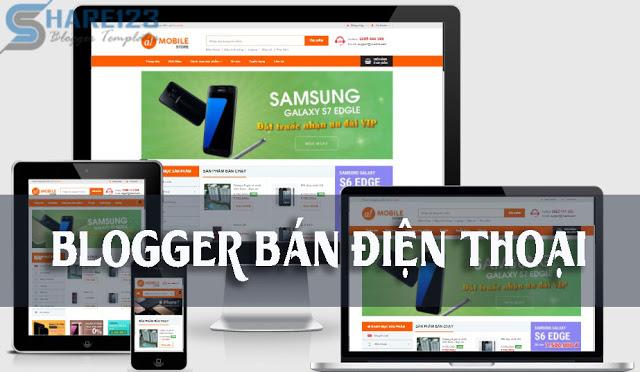 Mẫu template blogspot bán hàng điện thoại cực đẹp