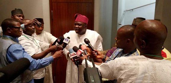 Lagos State Governor, Mr. Akinwunmi Ambode  pay a courtesy visit to  President Muhammadu Buhari in state HouseAbuja
