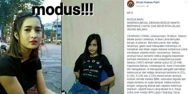 Fakta Mengejutkan Lena, Cewek Cantik Paling Ditakuti di Bekasi