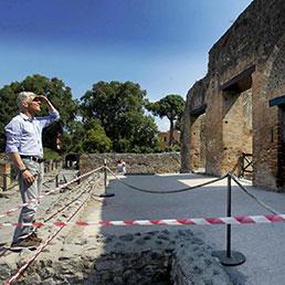 Pompei, visita a sorpresa del ministro Bray