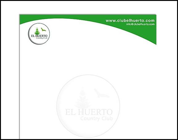 Diseño Membretado  Country Club El Huerto