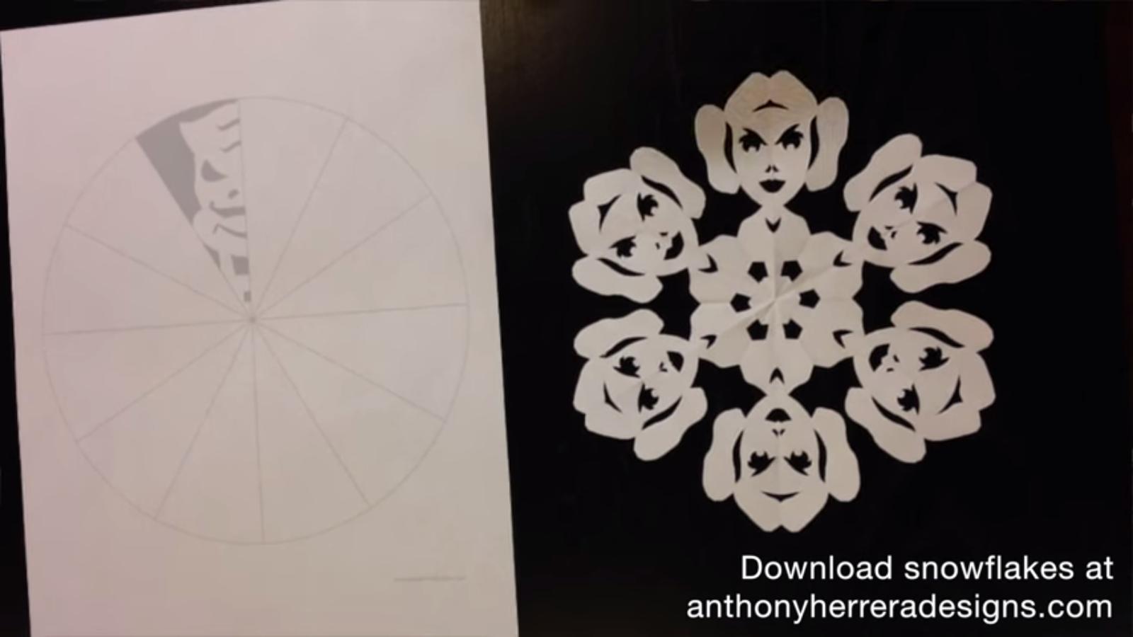 Fiocchi di neve dedicati a Star Wars