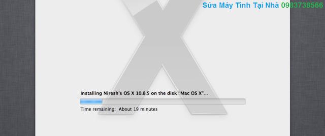 Quá trình cài đặt, chép file đang diễn ra