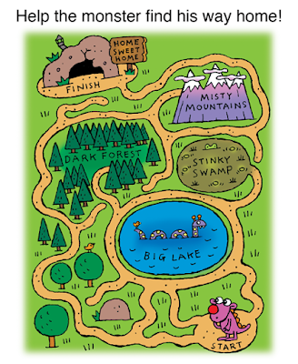illustration of monster maze