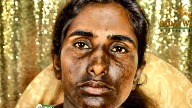 بالفيديو.. لن تصدق كيف اصبح شكل هذه الفتاة بعد المكياج! قال البعض بأن هذا امر غير معقول، و شككوا بأن تكون الفتاة هي نفسها!