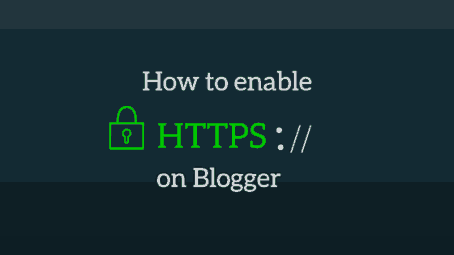 enable free https ssl in blogger blog