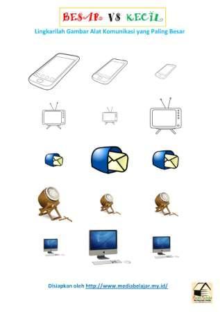 Gambar Mewarnai Alat Komunikasi Gambar Mewarnai