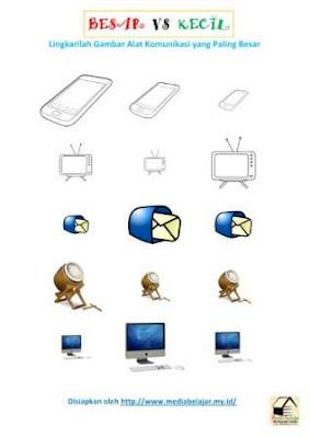 Melingkari Gambar Alat Komunikasi Paling Besar