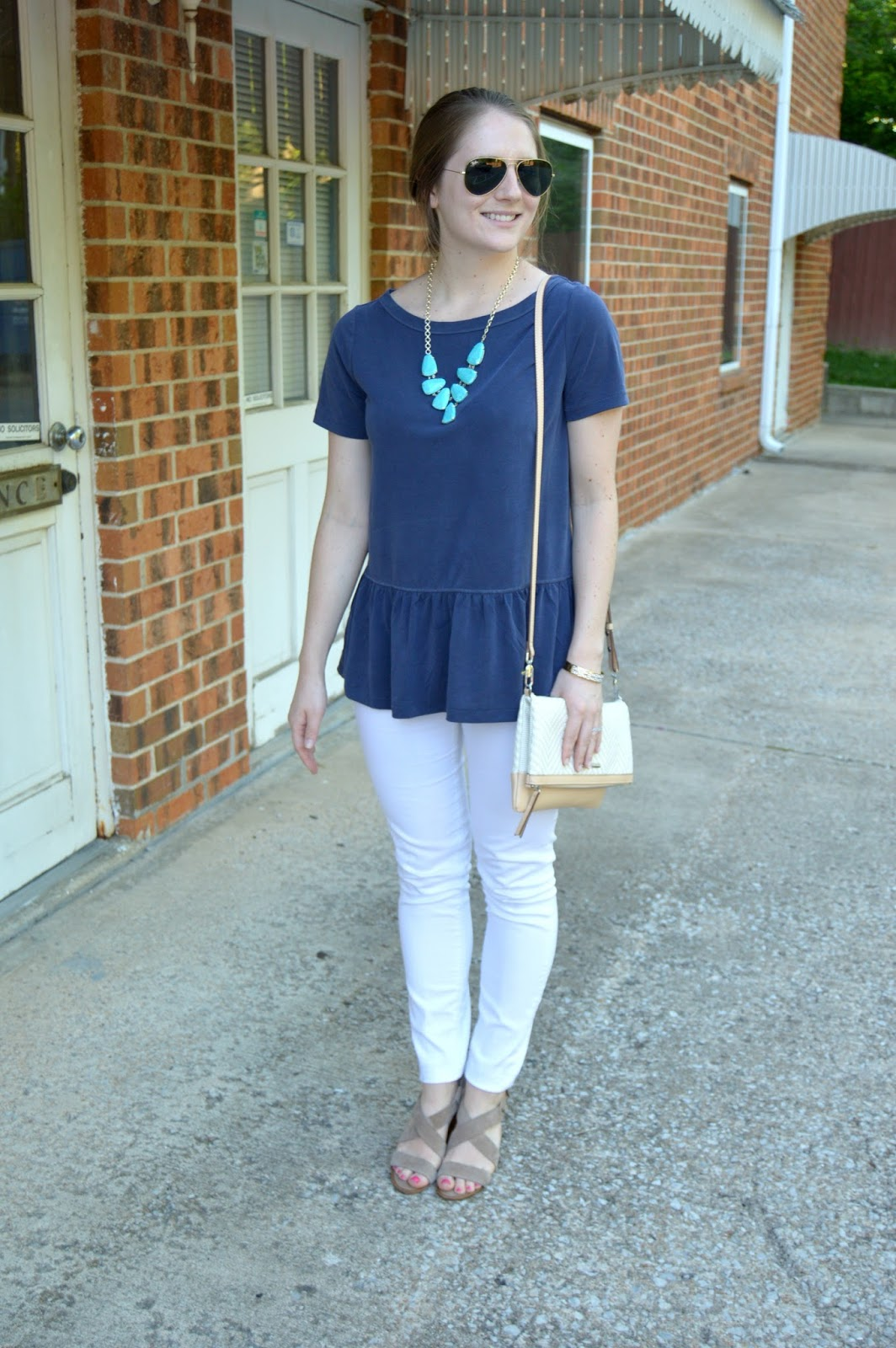 summer outfits with white jeans | what to wear this summer | peplum top | cute outfits for summer | summer outfit ideas | outfit ideas for summer