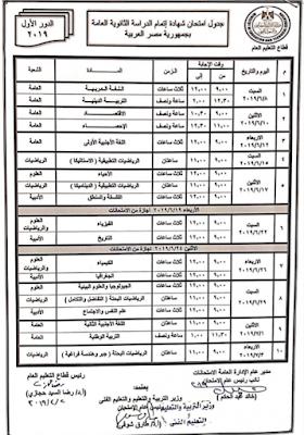 مواعيد امتحانات الترم الثاني 2019 لجميع المراحل حسب اعلان وزارة التربية والتعليم