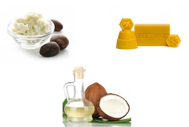 Minyak Kelapa, Shea Butter dan Beeswax (lilin lebah)