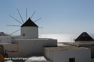 alte Mühle auf Santorin: Foto von Stampin' up! Demonstratorin Susanne McDonald Susis Basteltipps
