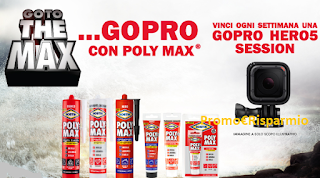 Logo Concorso ''Go To The Max: vinci 16 GoPro Hero5 con Poly Max''