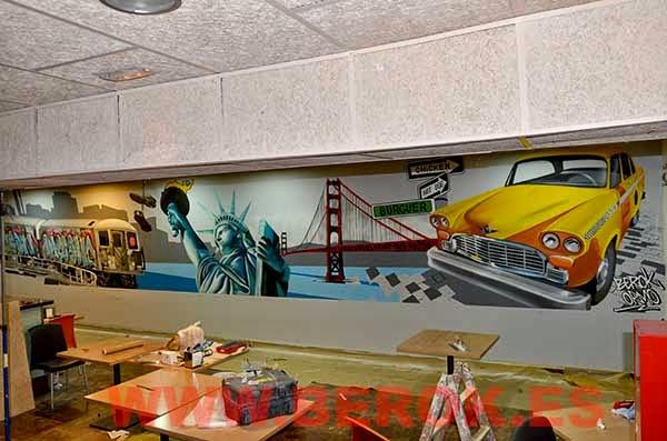 Decoración graffitis America