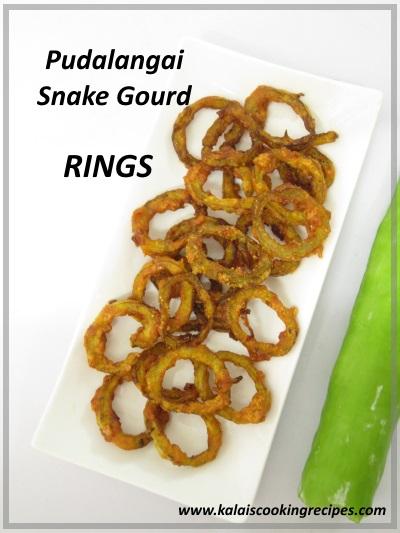 pudalangai snake gourd fried rings