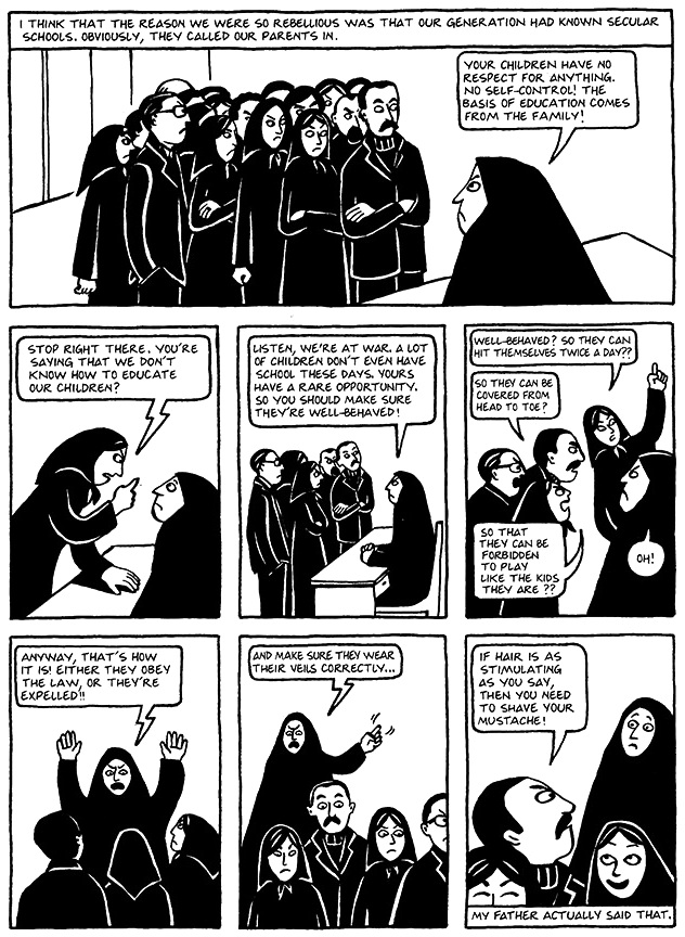 Read Chapter 13 - The Key, page 96, from Marjane Satrapi's Persepolis 1 - The Story of a Childhood