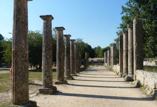 Palestra del yacimiento arqueológico de Olimpia.