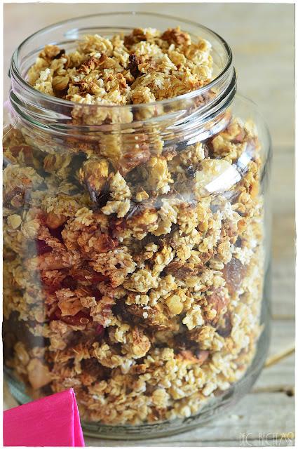 Healthy Granola Recipe-Granola crujiente. granola en casa Ventajas de cocinar granola en casa Ingredientes básicos de la granola casera: Beneficios de la granola. Por qué la granola está recomendada. ¿La granola es saludable? Granola saludable