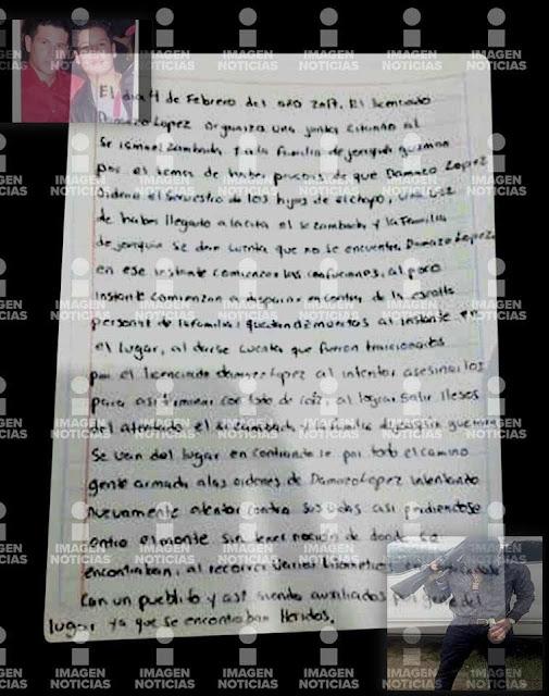 Carta completa: 'El Mini Lic' emboscó a hijos de 'El Chapo' y 'El Mayo' en Badiraguato; están heridos