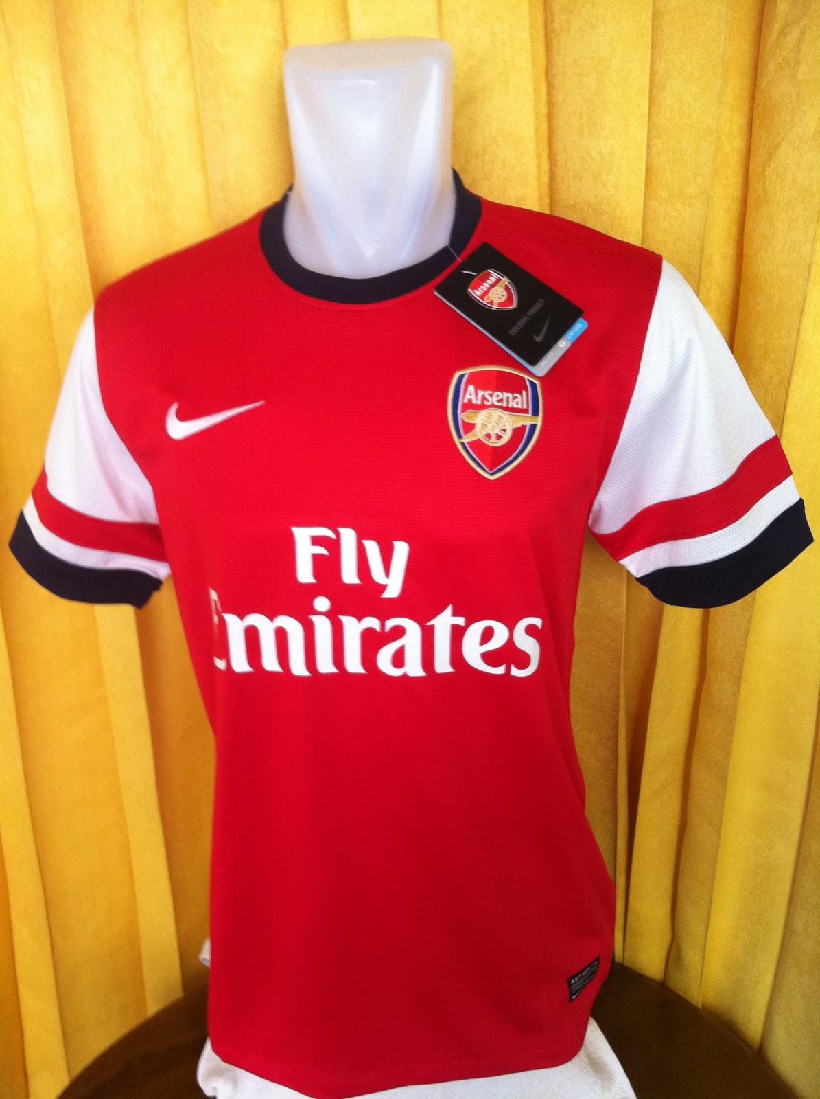 1f40a8b7f Exyezed Jersey Bola: Jersey Arsenal Home 2012 -2013 Grade Ori Murah