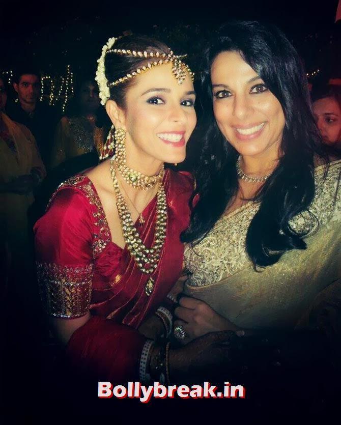 Raageshwari with Pooja Bedi, Raageshwari Wedding Pics