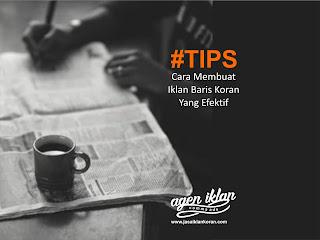 tips Cara Membuat Iklan Baris Koran Yang Efektif