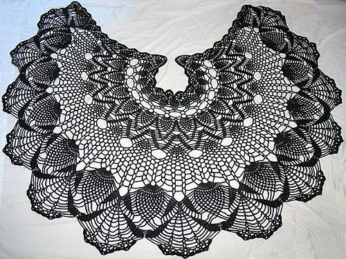 Crochet Shawls Crochet Lace Shawl Cape Gorgeous Crochet Pineapple