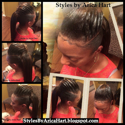 Lifted braid hair style