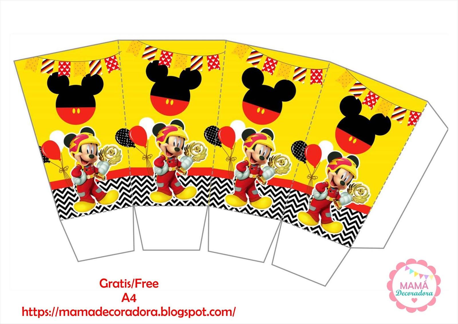 Mamá Decoradora Kit Imprimible Mickey Sobre Ruedas Gratis