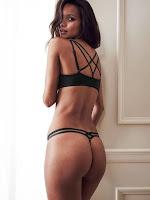 Lais Ribeiro sexy lingerie models photo shoot for Victoria's Secret bra & panties