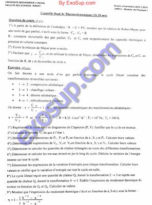 contrôles finaux SMPC S1 FSR