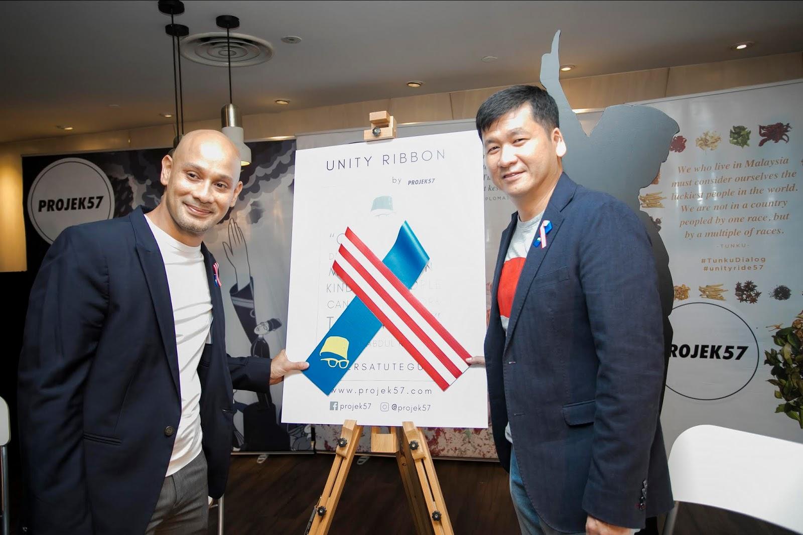 Kempen Unity Ribbon Projek57 Menyemarakan Rasa Cinta Pada Bangsa Dan Rakyat Malaysia