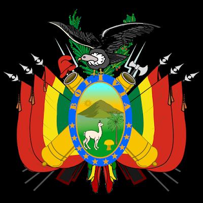 Coat of arms - Flags - Emblem - Logo Gambar Lambang, Simbol, Bendera Negara Bolivia