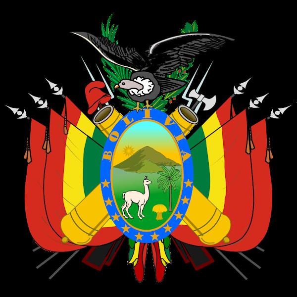 Logo Gambar Lambang Simbol Negara Bolivia PNG JPG ukuran 600 px