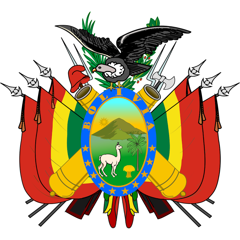 Logo Gambar Lambang Simbol Negara Bolivia PNG JPG ukuran 800 px