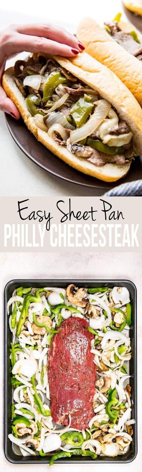 Sheet Pan Philly Cheese Steak