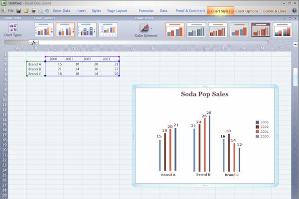 Excel high fidelity prototype