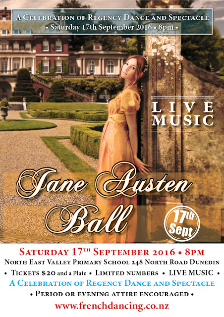 Jane Austen Ball Poster designed by Kura Carpenter