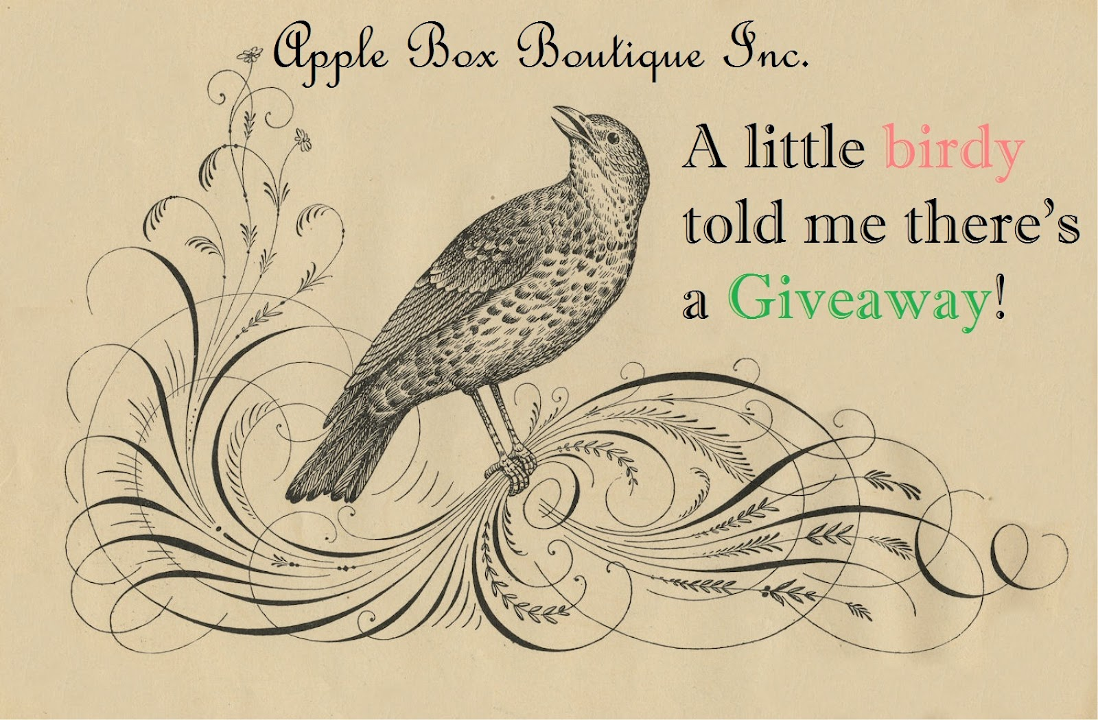 Apple box boutique inc christmas hours - A Little Birdy Told Me There S A Giveaway