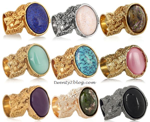 twenty2 blog yves saint laurent arty glass rings at net a. Black Bedroom Furniture Sets. Home Design Ideas