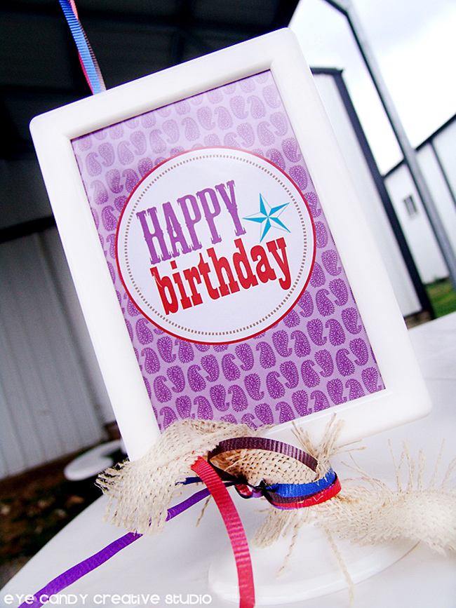 happy birthday sign, badana print, cowboy birthday party decor, farm