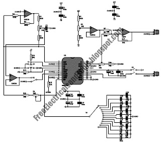 Free Schematic Diagram: 1Hz up to 22MHz Generator Using MAX038