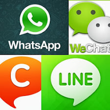 Whatsapp, We Chat, Chat On @ Line