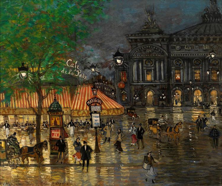 Konstantin Alekseyevich Korovin (1861-1939) - Place Opera Paris