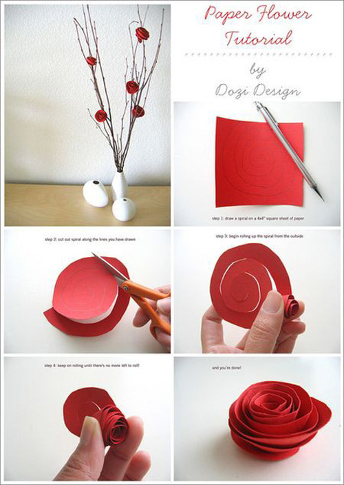 Great Tutorial For Making Paper Flowers