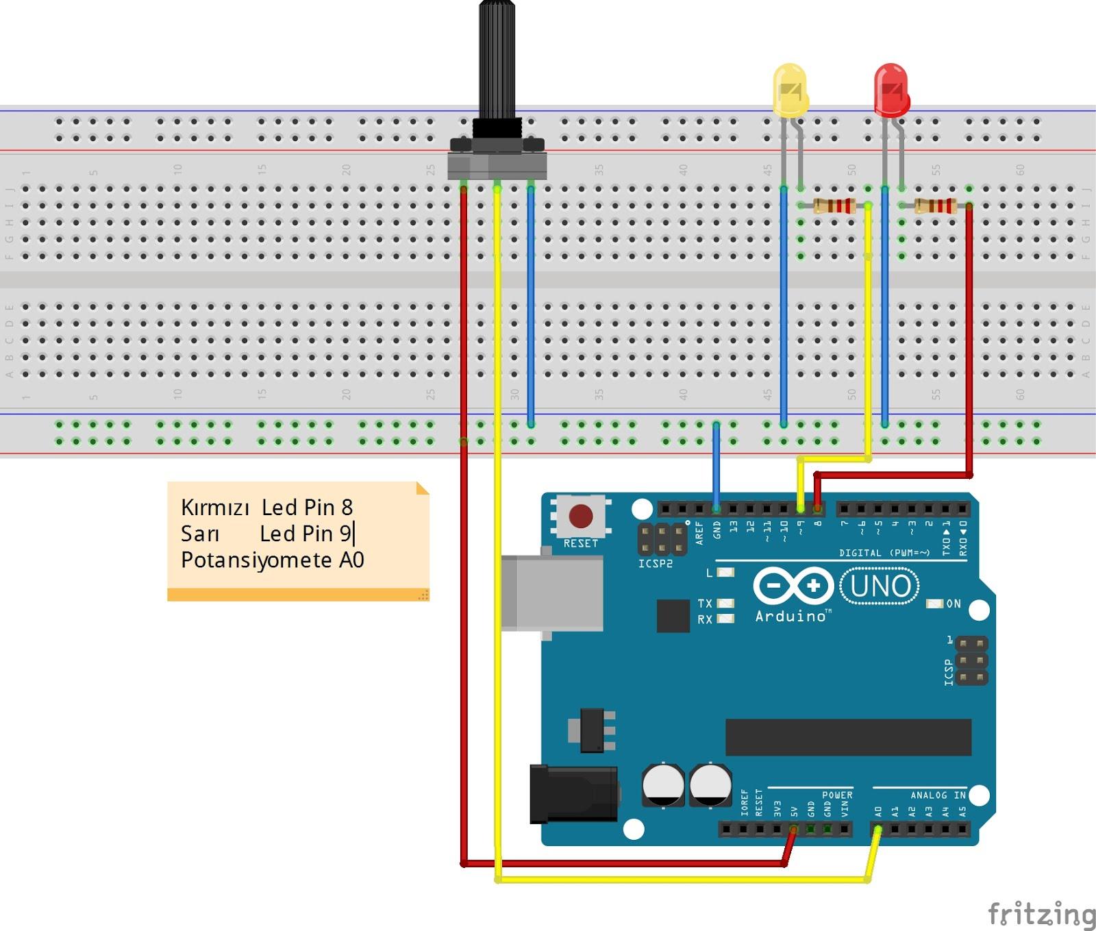 Arduino flip flop uygulaması robot projeleri