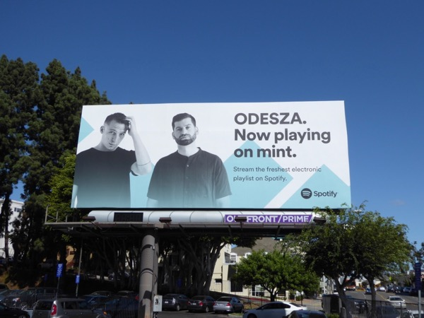 Odesza Spotify billboard